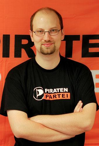 Andreas Popp, stellvertretender Bundesvorsitzender der Piratenpartei Foto: Piratenpartei